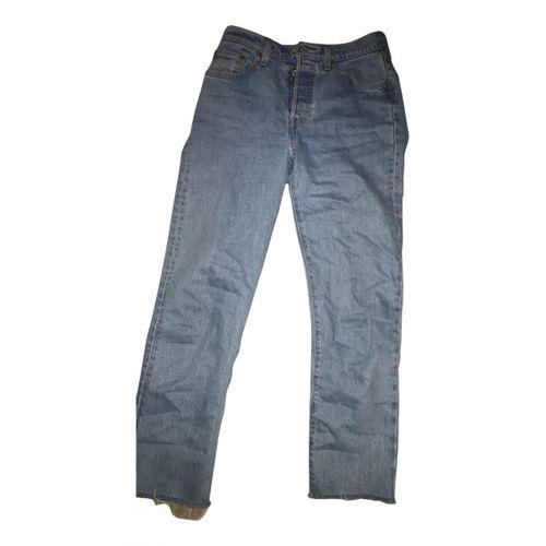 Levi's Blue Cotton - elasthane Jeans 501