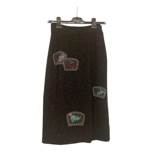 Ganni Glitter mid-length skirt