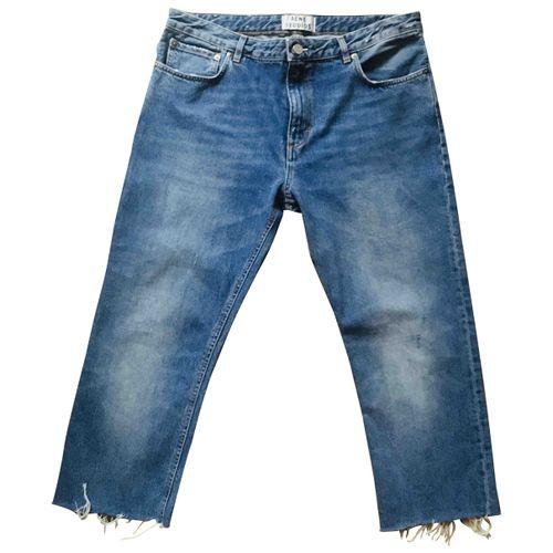 ACNE Acne Studios Blue Cotton Jeans Pop