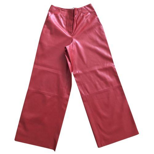 Nanushka Vegan leather straight pants