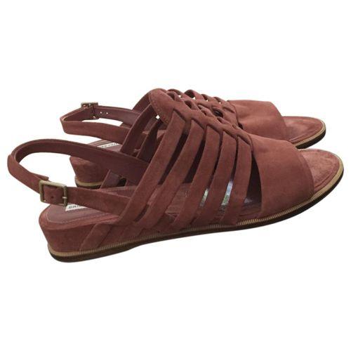 Dries Van Noten Orange Leather Sandals