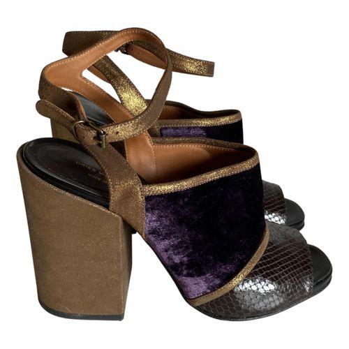 Dries Van Noten Crocodile sandals