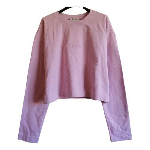 Acne Studios Pink Cotton Knitwear
