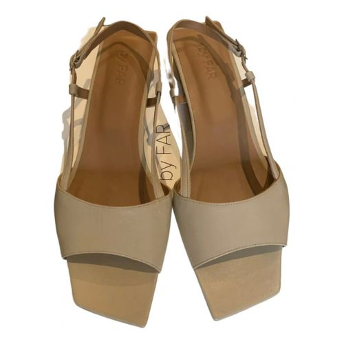 By Far Leather sandal