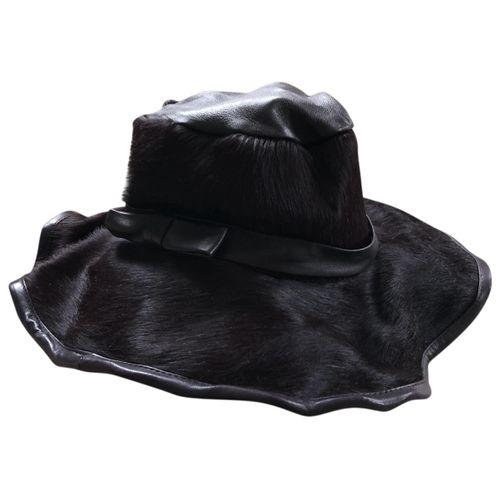 Acne Studios Leather hat
