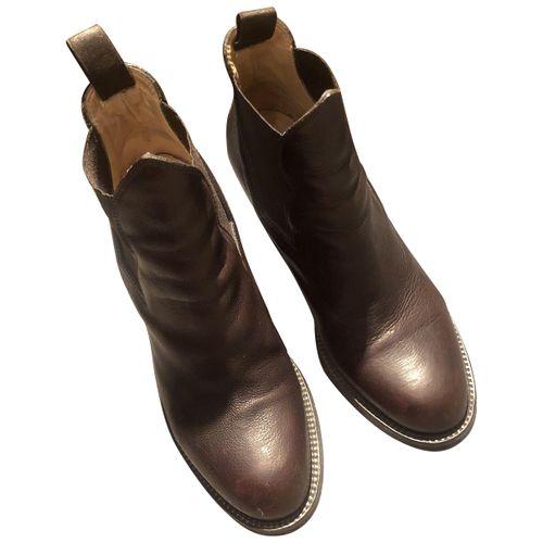 Acne Studios Star leather biker boots