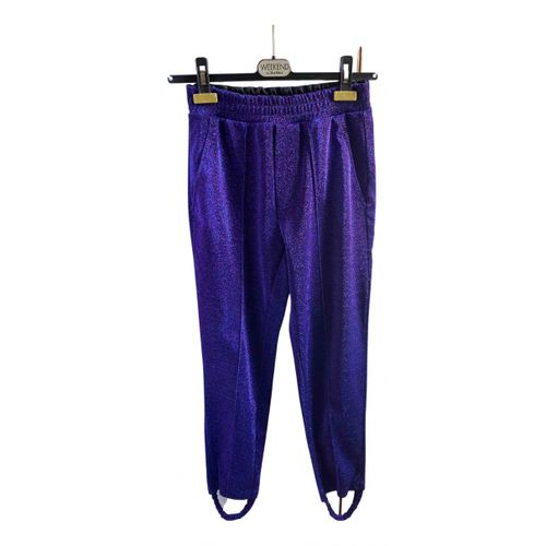 Golden Goose Purple Polyester Trousers