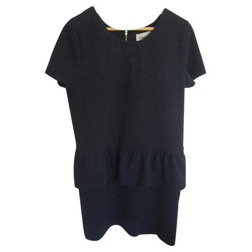 Ganni black/blue Victory dress