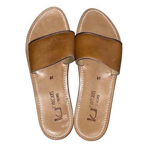 K Jacques Anacapri leather sandal
