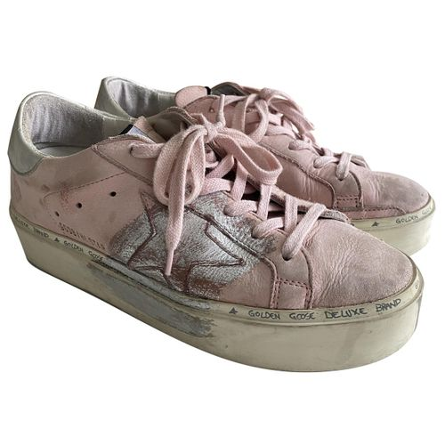 Golden Goose Hi Star leather trainers