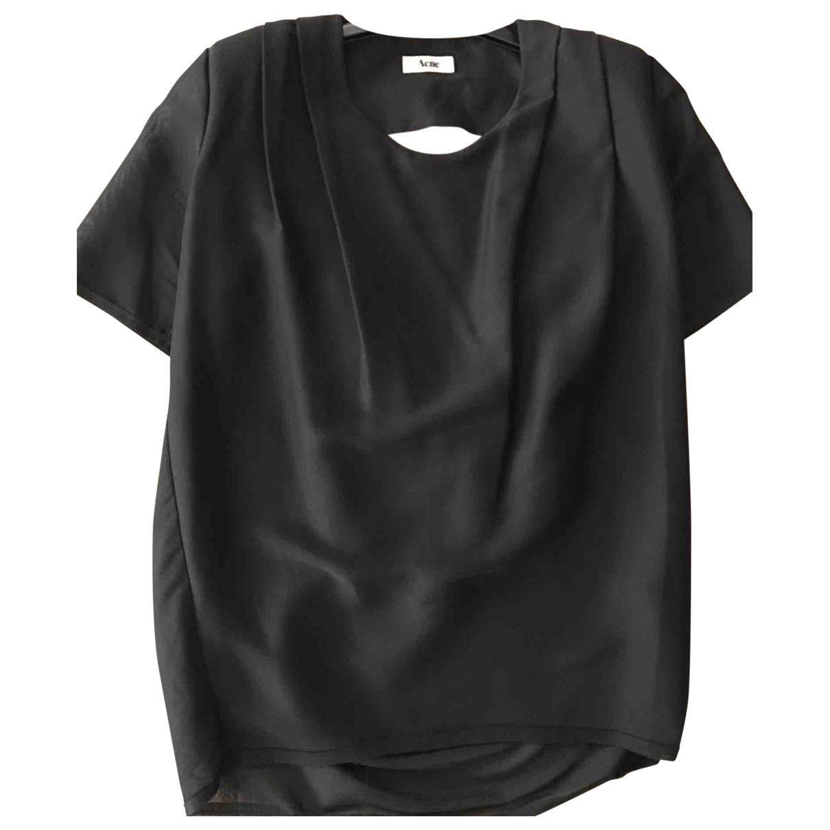 Acne Studios Black Polyester Top