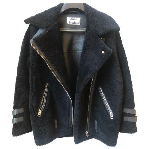Acne Studios Velocite shearling biker jacket