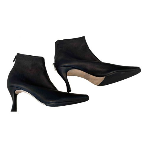 By Far Leather ankle boots