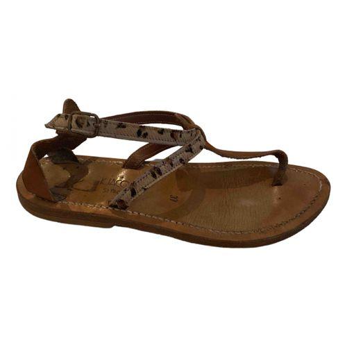 K Jacques Buffon pony-style calfskin sandal