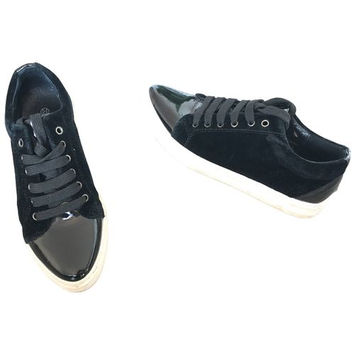 M Of Pearl Patent leather lace ups