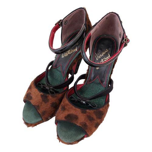 Vivienne Westwood Faux fur sandals