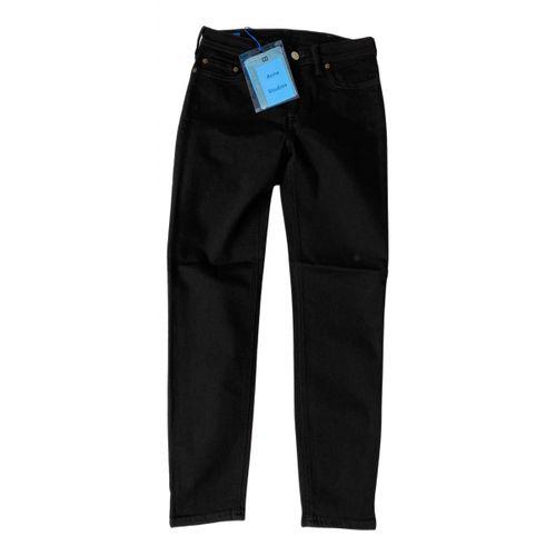 Acne Studios Black Cotton - elasthane Jeans Blå Konst