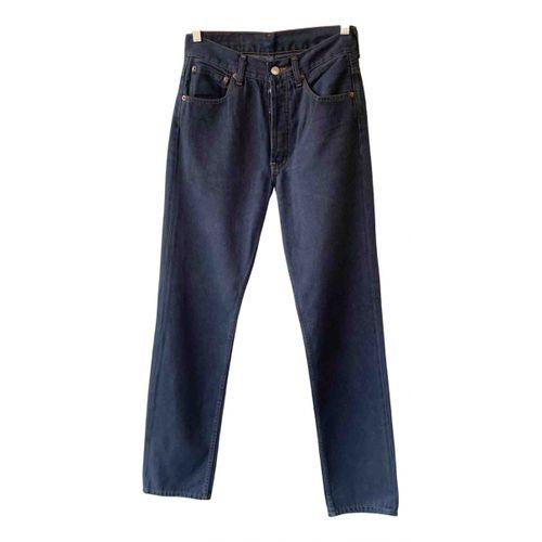 Levi's Grey Cotton Jeans 501