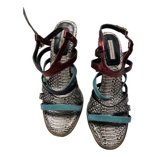 Dries Van Noten Python sandals