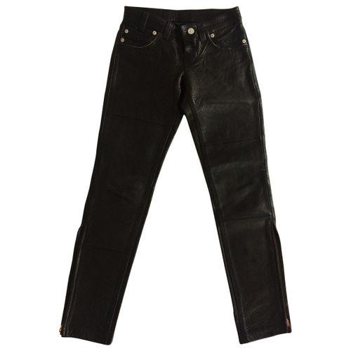 Levi's Leather straight pants