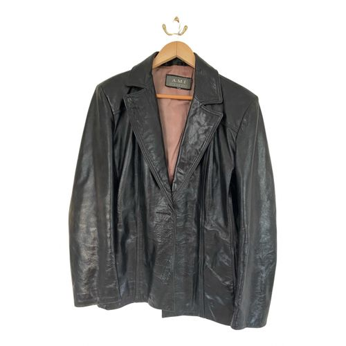 Ami Leather biker jacket