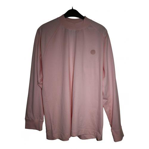 Acne Studios Pink Cotton Top Blå Konst