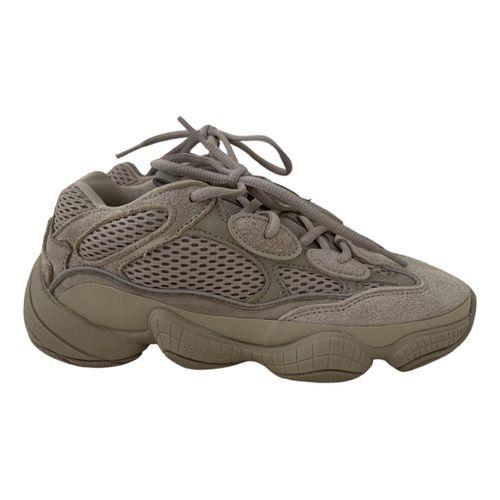 Yeezy x Adidas 500 leather trainers