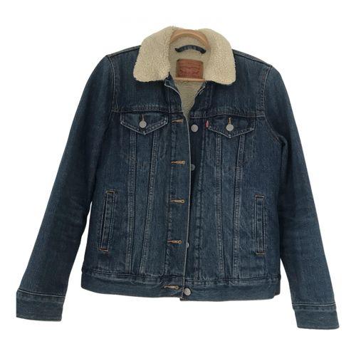 Levi's Faux fur biker jacket