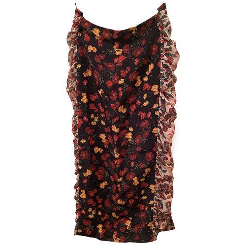 M Of Pearl Silk mid-length skirt