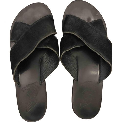 Ancient Greek Sandals Pony-style calfskin mules
