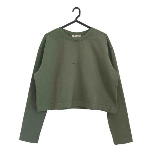 Acne Studios Green Cotton Knitwear
