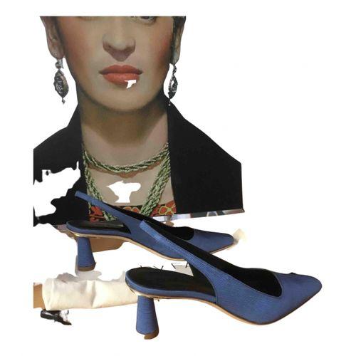 By Far Cloth heels