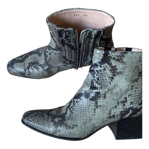 Acne Studios Python ankle boots