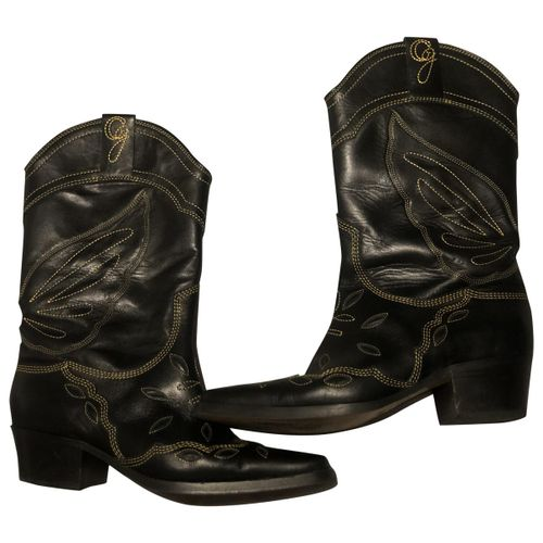 Ganni Leather cowboy boots