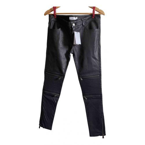 Anine Bing Fall Winter 2019 leather straight pants