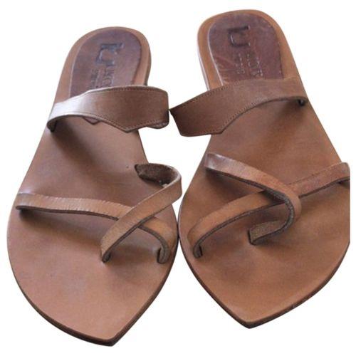 K Jacques Leather sandal