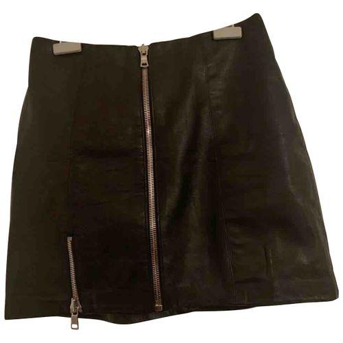 Reformation Leather mini skirt