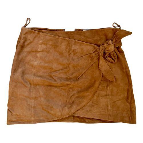 Sézane Leather mini skirt