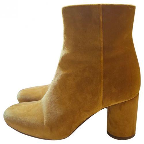Sézane Velvet ankle boots