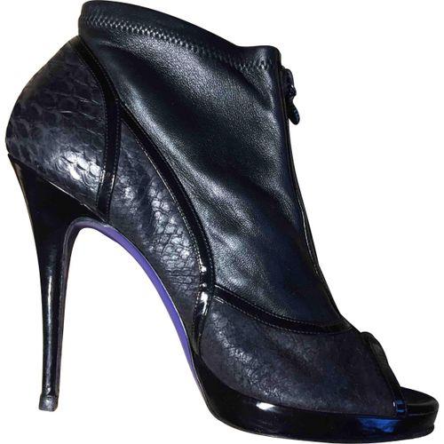 Vivienne Westwood Python open toe boots