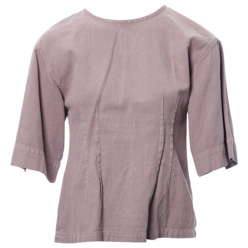 Dries Van Noten Purple Cotton Top