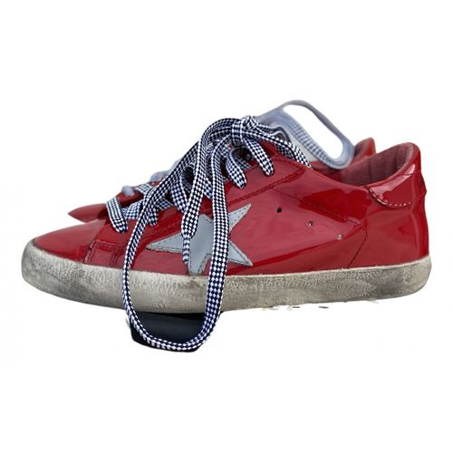 Golden Goose Superstar patent leather trainers