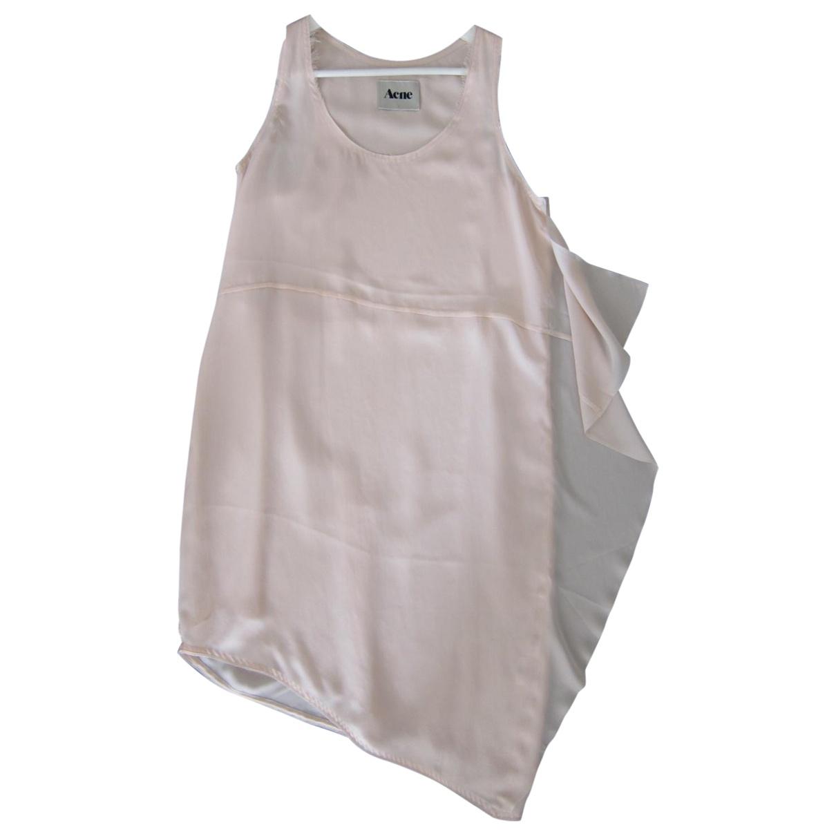 Acne Studios Pink Silk Dress