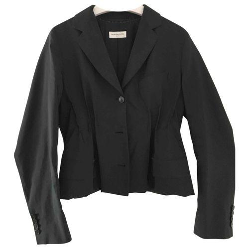 Dries Van Noten Black Synthetic Jacket