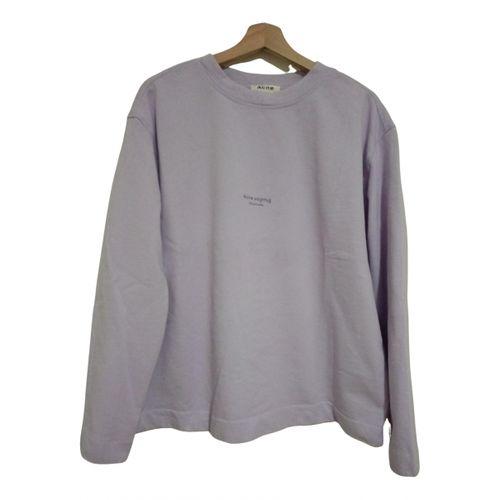 Acne Studios Purple Cotton Knitwear