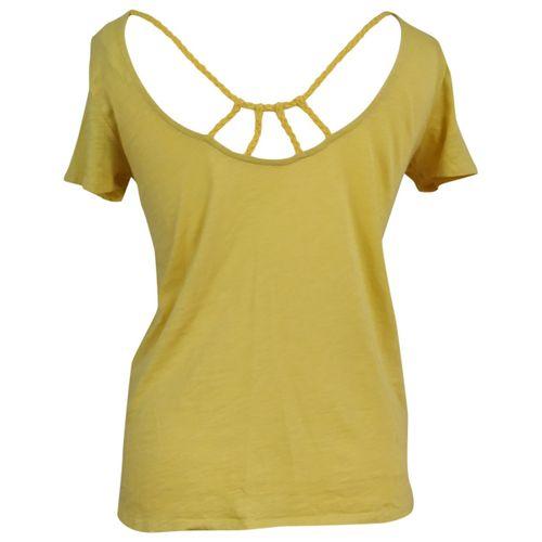 Sézane Yellow Cotton Top