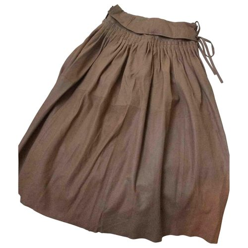 Ulla Johnson Leather mid-length skirt