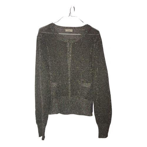Dries Van Noten Silver Polyester Knitwear