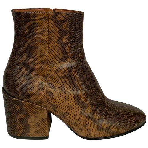 Dries Van Noten Lizard ankle boots