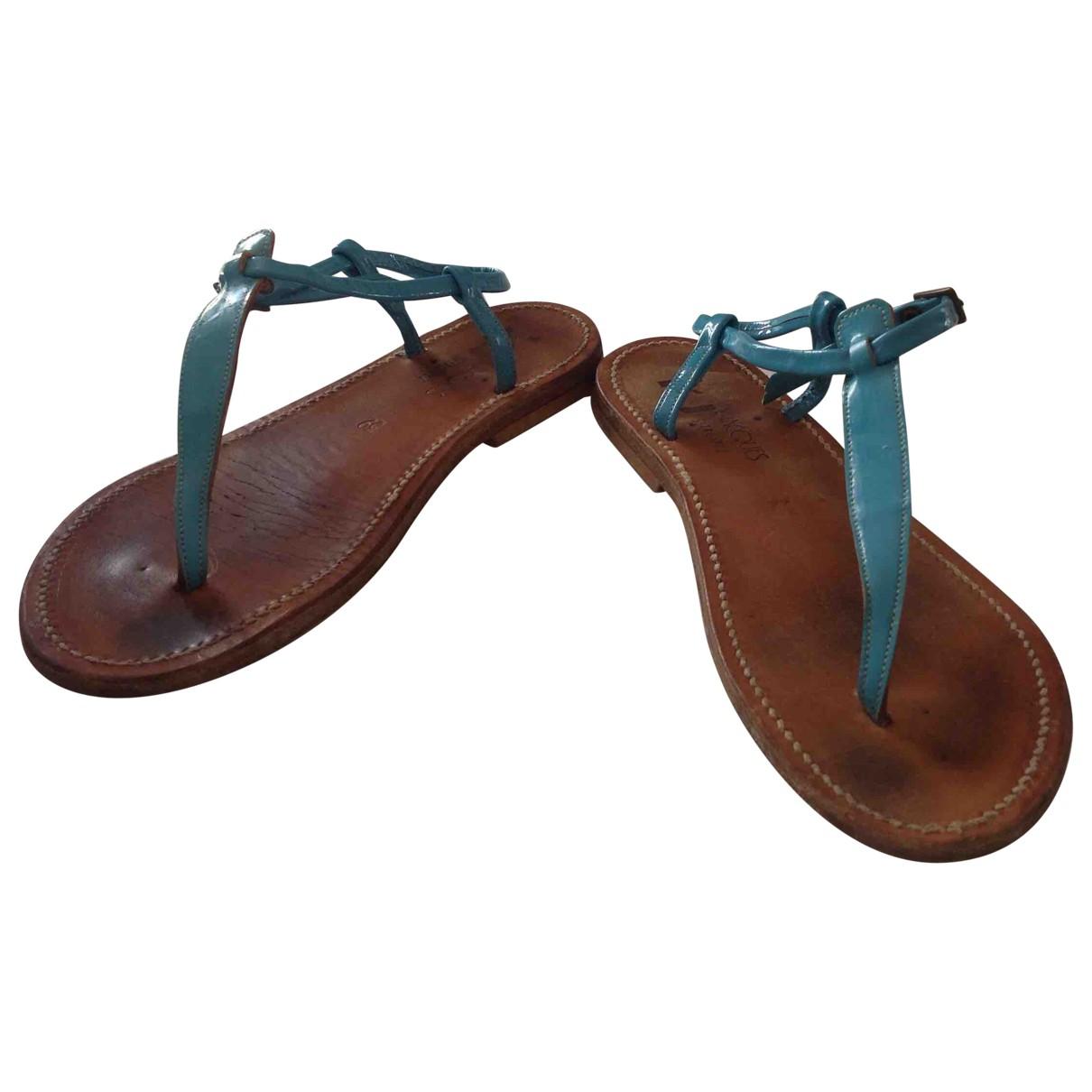 K Jacques Patent leather sandal